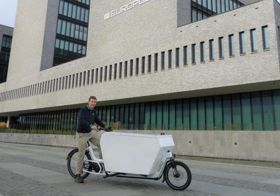 Fietsen met je vracht voor duurzaam Den Haag