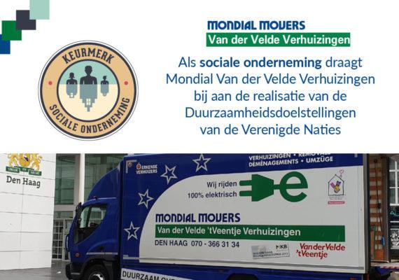 Keurmerk Sociale Onderneming voor Mondial Van der Velde Verhuizingen